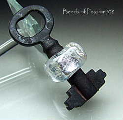Vintage Key w/Iced Bead