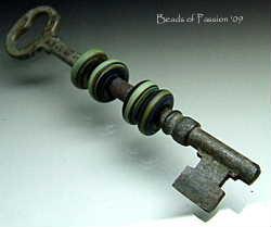 Vintage Key w/4 Ocean Tie Dyes