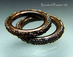 2 Victorian Electroformed Rings - Lg