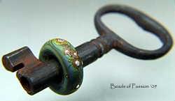 Vintage Key w/Tie Dye Silver Drizzle