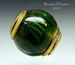 Rich Emerald Brass Capped