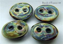 (4) Tie Dye Buttons - 2 hole
